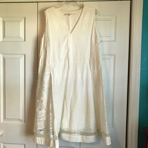 Rachel Roy White Lace/Dot Dress